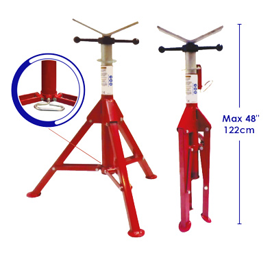 Tri Folding Pipestand - Base unit only - Max 1000 kg