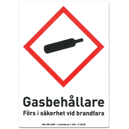 Bildekal Gas med text